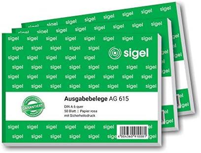 Sigel EB615 Lot de 50 feuilles A6 quer 1 St/ück vert