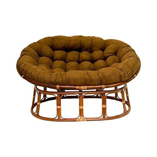 International Caravan Double Papasan Chair With Microsuede Cushion