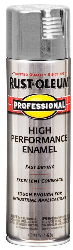 Rust-Oleum 7581838 Professional High Performance Enamel Spray Paint, 15 oz, Light Machine Gray ()