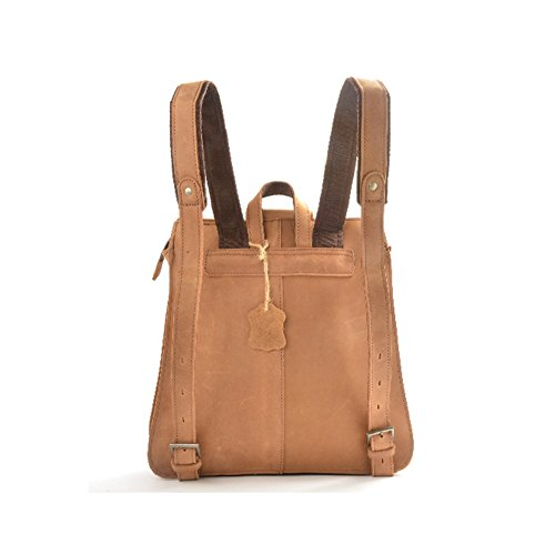 Leisure Style Women's Men's First Layer Leather Crazy horse Leather backpack Bag Handbag School Bag Fit Ipad
