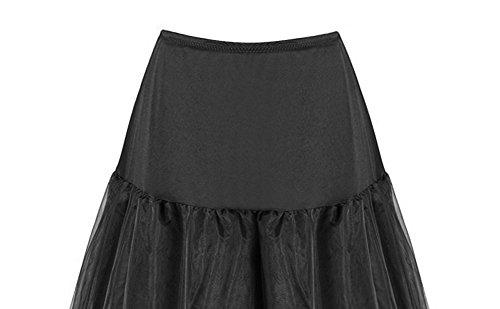 annes Blanc Comall Petticoat longueur Femme choisir en 50 3 Rockabilly tailles Jupon tulle vintage 100cm wqEqgA1Fx
