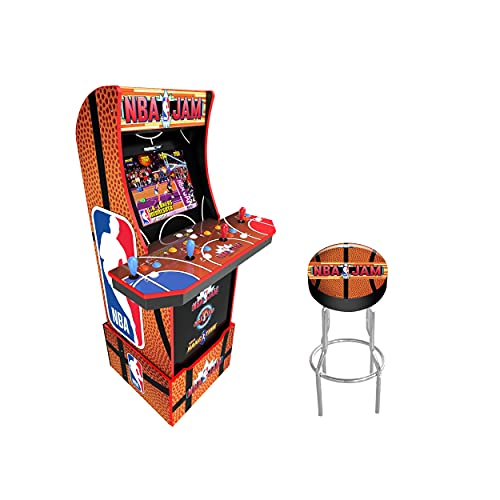 Arcade1Up Arcade1Up NBA JAM Home Arcade Machine, 3 Games in 1, 4 Foot Cabinet with 1 Foot Riser – Electronic Games;