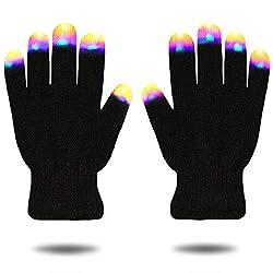 Fingertip LED Flashing Gloves