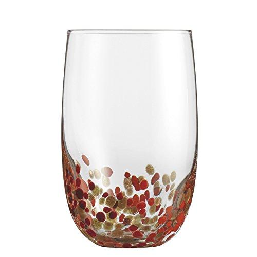 Cuisinart CG-S4HBRG Highball Glassware, Red