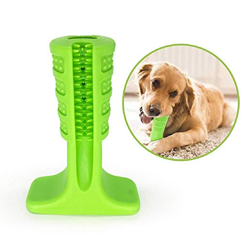 WYS Pet Dog Toothbrush Natural Silica Gel Material Chew Toys for Tooth Cleaning and Interactive Training Playing…