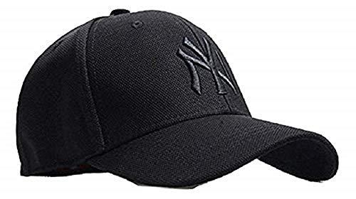 Huntsman Era Flexfit Fitted Strechable NY Baseball caps for Men and Women  Black