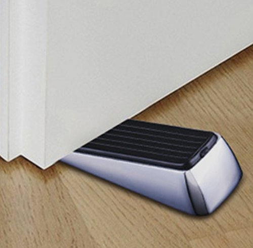 Nicedec 2-Pack Heavy Duty Stainless Steel Door Stoppers with Rubber Bank and Top, non-slip 1.18 Inch high Door Wedge, Door Stop by Nicedec (Image #3)