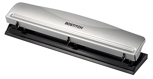 Metal Capacity - Bostitch Office HP12 3 Hole Punch, 12 Sheet Capacity, Metal