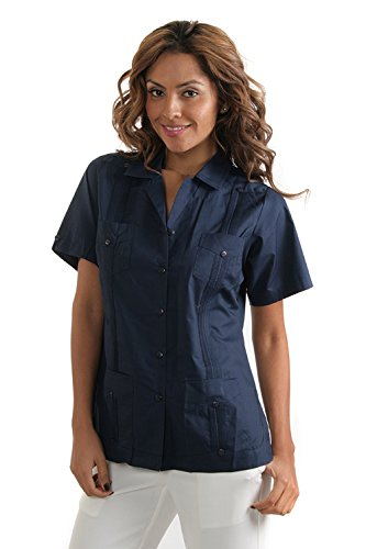 Women's Poly/Cotton 4-Pocket Guayabera (2X, ()