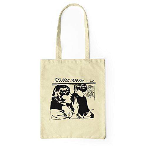 "Bolsa de tela ""Soonic Youth L P"" - tote bag shopping bag 100% algodón LaMAGLIERIA, Natural"