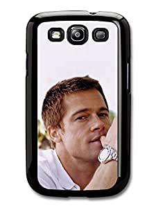 AMAF ? Accessories Brad Pitt Wearing a Watch Actor Portrait case for Samsung Galaxy S3