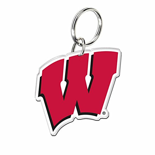 (Wisconsin Badgers NCAA Acrylic Key Chain - Team Color,)