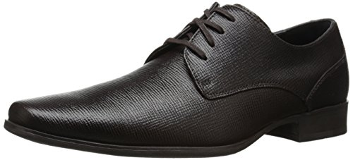 Calvin Klein Men's Brodie epi Leather Oxford, Brown, 10.5 M US by Calvin Klein