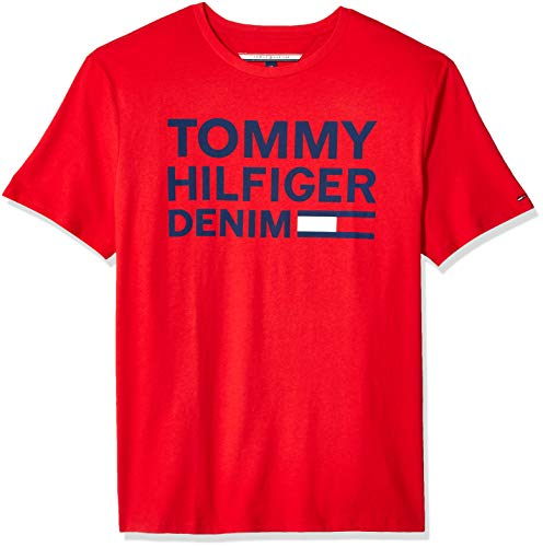 - Tommy Hilfiger Men's THD Short Sleeve Logo T Shirt, Apple Red, LG