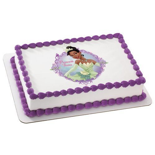 Princess & the Frog Princess Tiana Personalized Edible Cake Image Topper