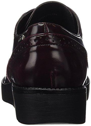 MTNG Collection 51718 - Zapatos de cordones para mujer Rojo (CORDOBANO BURDEOS)
