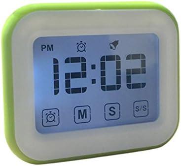 Dolity Reloj Despertador Digital, Temporizador de Cocina, Reloj Deportivo, Pantalla LCD, Reloj de Cabecera - Verde