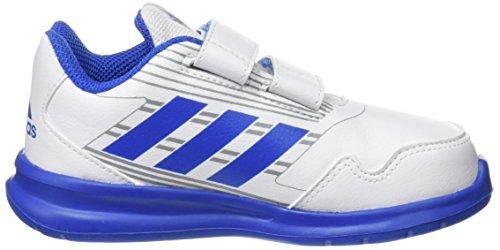 adidas Altarun CF I, Zapatillas de estar Por Casa Unisex Bebé Blanco (Ftwbla/Azul/Grimed 000)