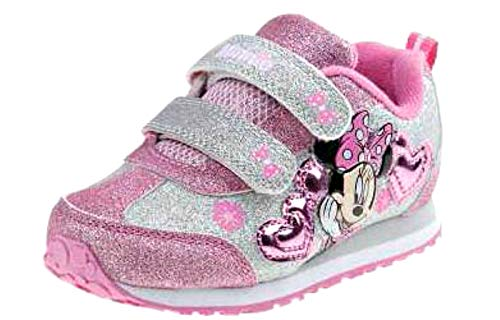Image of Josmo Kids Baby Girl's Minnie Heart Jogger (Toddler/Little Kid) White/Pink 8 M US Toddler M