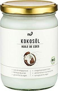 nu3 Aceite de coco orgánico | 500ml | Calidad ecológica | Pulpa de coco prensado en