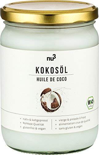 nu3 Aceite de coco orgánico   500ml   Calidad ecológica   Pulpa de coco prensado en