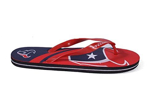 Per Sempre Da Collezione Happy Feet Uomo E Donna Con Licenza Ufficiale Grande Logo Infradito Houston Texans