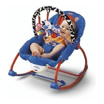 Fisher Price Infant To Toddler Rocker, Blue/Red