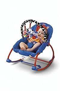 Amazon Com Fisher Price Infant To Toddler Rocker Blue