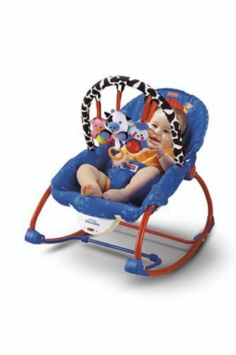 Fisher Price Infant To Toddler Rocker Blue Red