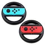 abcGoodefg Joy-Con Steering Wheel for Nintendo Switch Controller (Black)