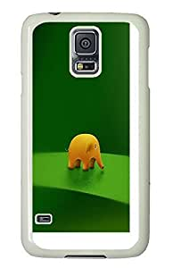 Samsung Galaxy S5 top covers Funny Baby Elephant PC White Custom Samsung Galaxy S5 Case Cover