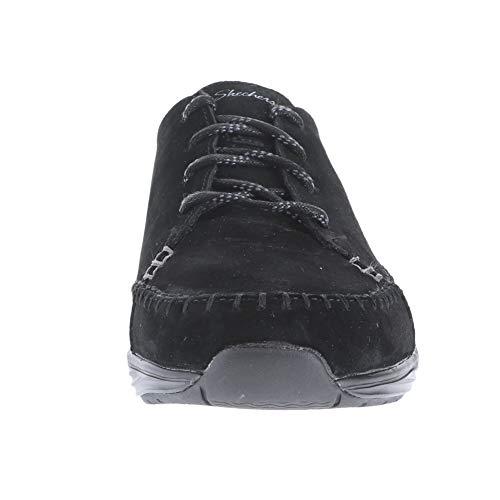 Skechers49484 à Point roulé Baskets Femme Black Coupe Lacets Prospect Bout Classique Mocassin Bbk Seager rBwrq10