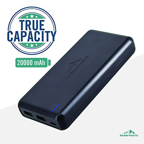 Boulder Pack Co Compact True-Capacity 20000 mAh Power Bank (with
