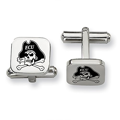 s Stainless Steel Square Cufflinks (East Carolina Logo Square)
