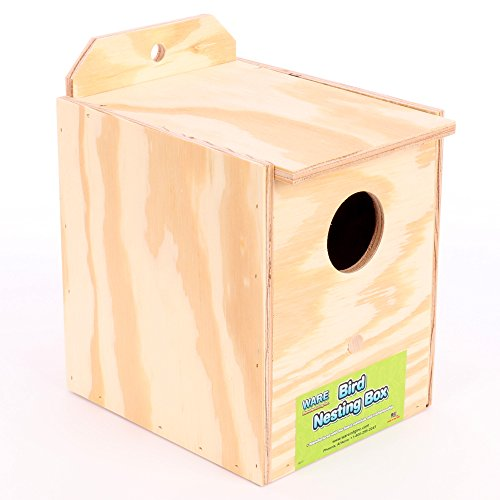 Bird Nesting Box (Ware Manufacturing Wood Parakeet Regular Nest Box, Keet)