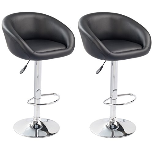 Set of 2 Modern Design Synthetic Leather Adjustable - Back Jack Folding Chair