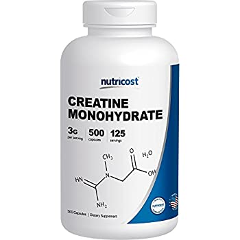 Nutricost Creatine Monohydrate 750mg, 500 Capsules