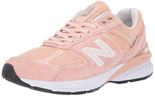 New Balance Women's 990v5 Made in The USA Sneaker, Pink/White, 7.5 B US