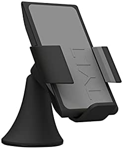 TYLT VU Wireless Charging Car Mount 3 Coil Qi Charger for Galaxy S6/Nexus 6/Droid Turbo/Lumia 920 and other Qi Phones - Gray