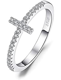 Cubic Zirconia Anniversary Wedding Ring 925 Sterling Silver