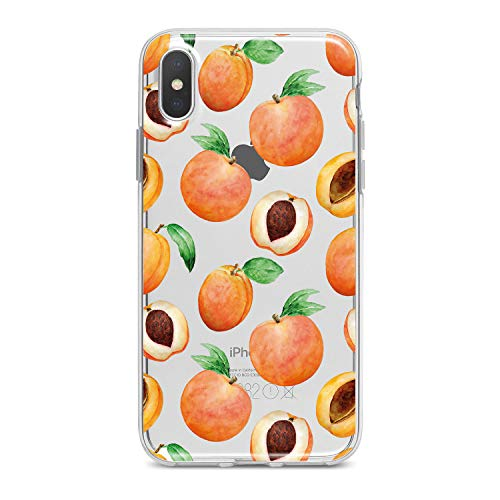 (Lex Altern Peach Case iPhone Xs Xr Max 10 X 8 Plus 7 6s 6 SE 5s 5 TPU Clear Pattern Silicone Apple Phone Cute Cover Fruit Sweet Print Tropical)