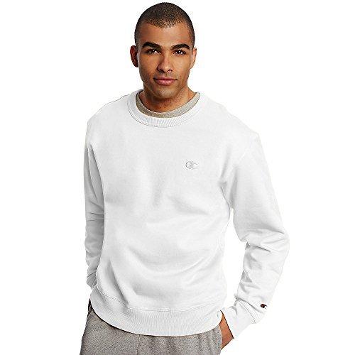 Champion Men's Powerblend Pullover Sweatshirt, White, X-Large