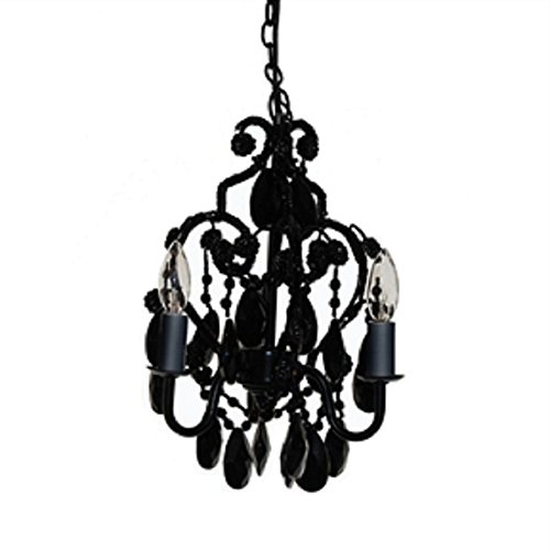x Crystal Chandelier in Black Onyx Chandelier Crystal Light Antique Brass French Lamp Glass Crystals MyEasyShopping ()