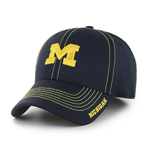 - NCAA Michigan Wolverines Adult Start Line Ots Center Stretch Fit Hat, Large/X-Large, Navy