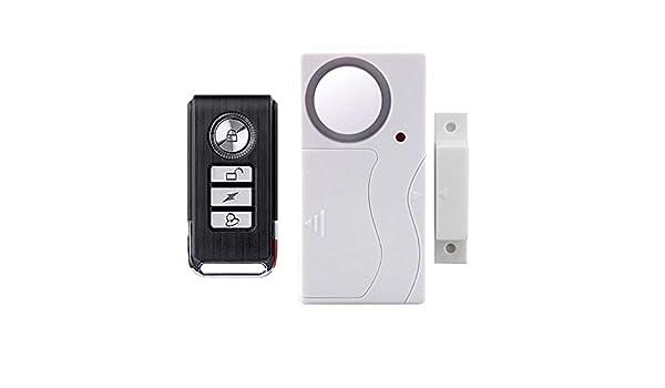 ulofpc Alarma de Puerta Control Remoto inalámbrico antirrobo ...