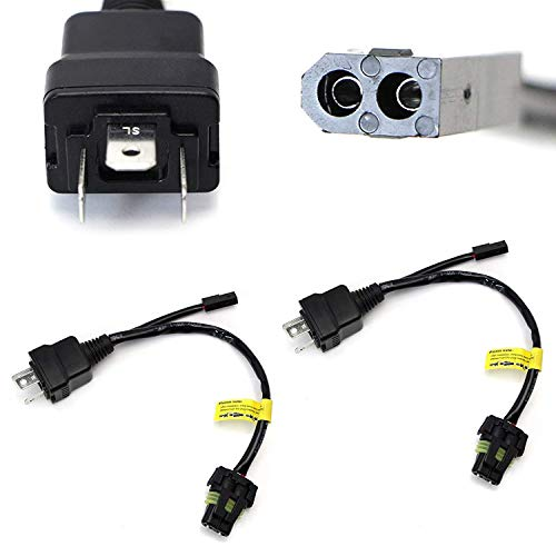iJDMTOY (2) Easy Relay Harness For H4 9003 Hi/Lo Bi-Xenon HID Conversion Kit Xenon Bulbs Wiring Controllers