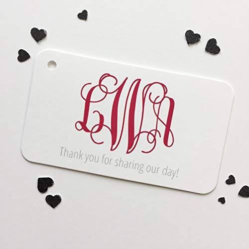 (Thanks For Coming! Monogram Wedding/Event/Celebration Favor Hang Tags (RBC-155))