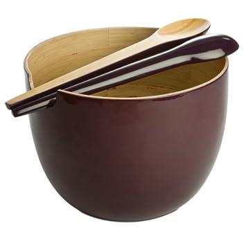 Salat Schussel Globo O 25 Cm Aus Bambus Von Ekobo Farbe Prune