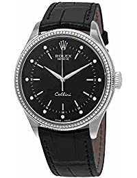Cellini Time Black Diamond Dial Automatic Men's Leather Watch 50609BKDL