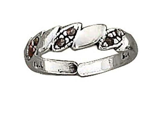Sterling Silver Marcasite Twist Toe Ring